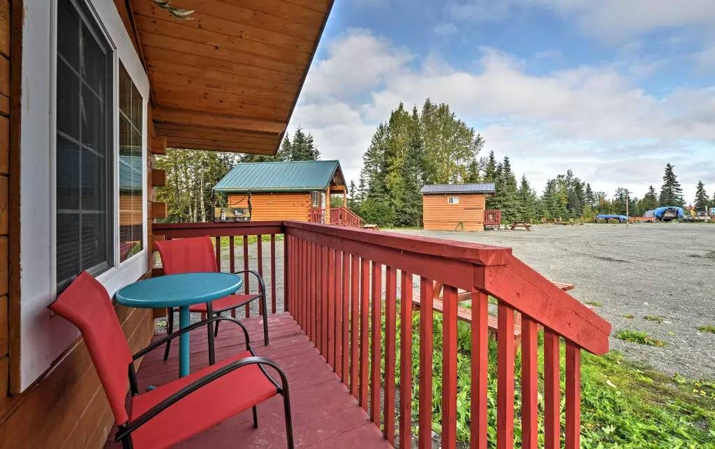 on conservation deal its own the located private bed pepper rentals yards beach from ha cabin cabins property alaska area hotels luxury home creek s in image